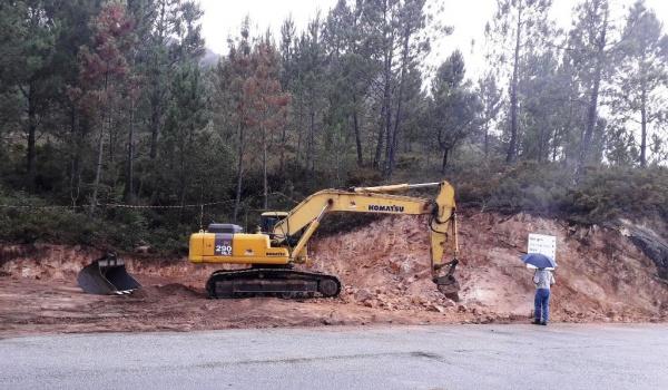 Obras da estrada da Mata da Albergaria avançam a bom ritmo